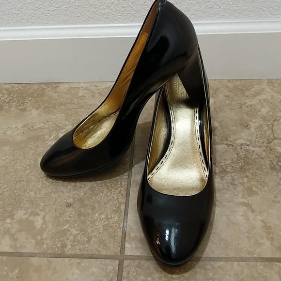 13b051636b Coach Shoes   Classic Black Patent Leather Pumps   Poshmark